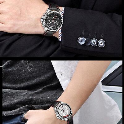 MEGIR Men's Stainless Steel Analog Waterproof Sports Quartz Military Wrist Watch 6