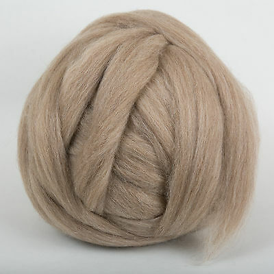 100g*Fawn*PROFESSIONALLY COMBED SHETLAND FLEECE* Scottish.pure.wool.tops.roving 2