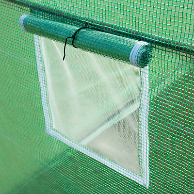 4 Size Walk-in Greenhouse Polly Tunnel Patio Garden Outdoor Polytunnel Frame 10