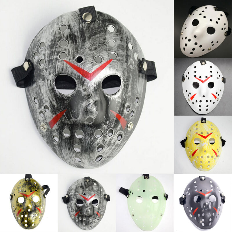 Jason Voorhees Freitag 13. Deluxe Halloween Horror Hockey Maske Cosplay Kostüm 2