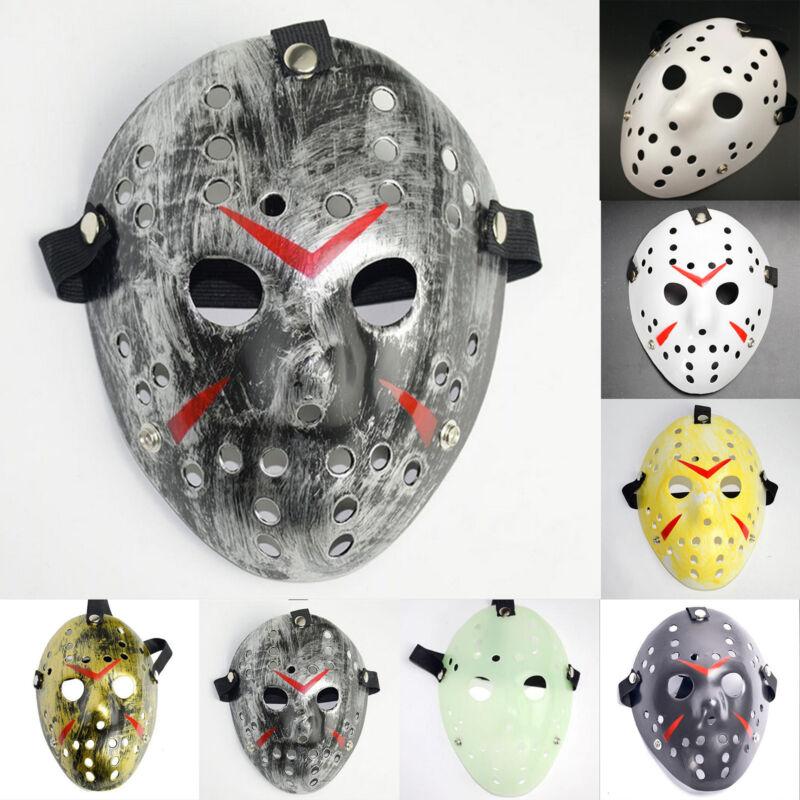 Jason Voorhees Freitag 13. Deluxe Halloween Horror Hockey Maske Cosplay Kostüm