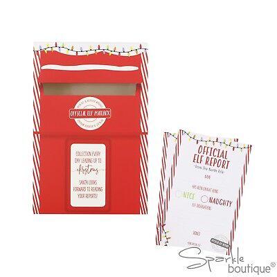 CHRISTMAS ELF REPORT CARDS & POST BOX - Santa's Elves Xmas Advent Shelf Idea 2