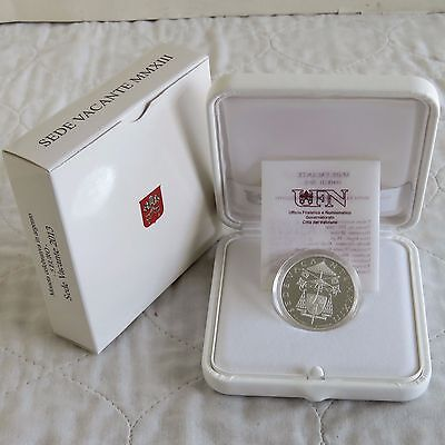 VATICAN CITY 2013 VACANT PAPAL SEAT SILVER PROOF 5 EURO - complete 2