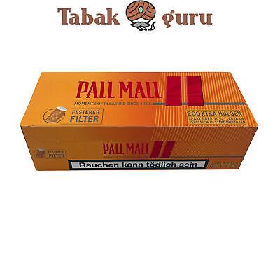 4 x Pall Mall Mega Box Volumentabak 185g, Feuerzeuge, 2.000 Allround Xtra Hülsen 2
