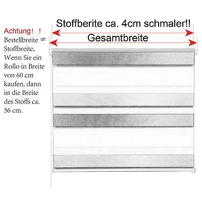 Doppelrollo Klemmfix ohne Bohren Duo Rollo Zebra Seitenzug Fenster Tür #324-a 3