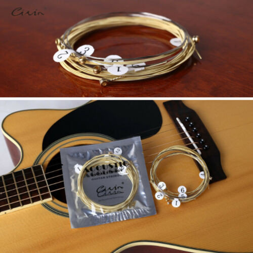 6 PCS Acoustic Guitar Strings Set Phosphor Bronze & Steel Strings 7