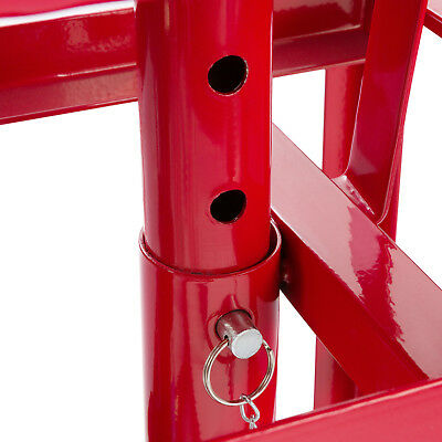 2x PKW Auffahrrampe höhenverstellbar Hebebühne Rampe Auffahrbock Hebeplattform 5