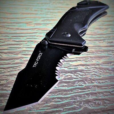 "Tac Force Spring Assisted Tactical Tanto Blade Folding Rescue Pocket Knife 8.25"" 4"