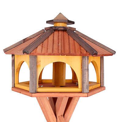 Mangeoire d'oiseaux mangeoires à oiseaux mangeoire avec le support bois jardin 5