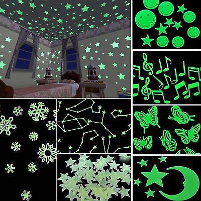 200 Wall Glow In The Dark Stars Stickers Kids Bedroom Nursery Room Ceiling Decor 2