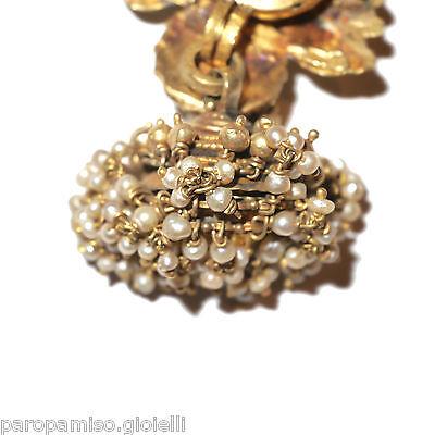 Tamil Nadu Earrings, 22k Gold-Rubis-Basra Pearls  (0729) 4 • CAD $6,521.84