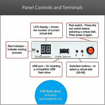 !USB Floppy Drive Emulator N-Drive Industrial for Arburg Selogica Control System 6