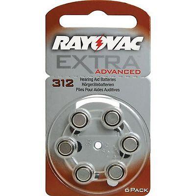 60 x Rayovac Extra Advanced Hörgerätebatterien 312 312AU-6XEMF 10 Blister