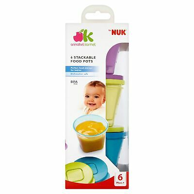 NUK Stackable Storage Pots – Baby/Toddler/Kids Food 3
