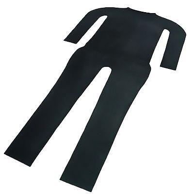 Latexanzug aus Rubber in schwarz, Einheitsgröße 4