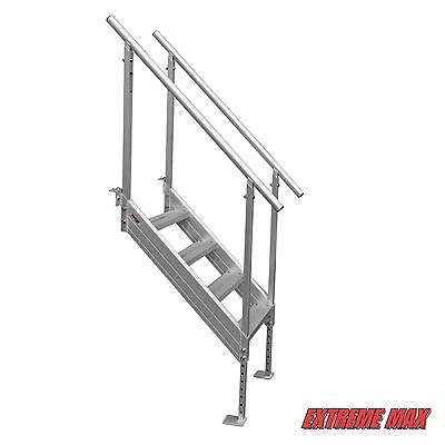 7 Of 9 Extreme Max™ Universal Mount Aluminum Dock Stairs, 4 Step