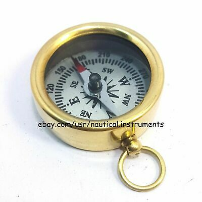 Lot  Of 50 Pcs Vintage Style Solid Brass  White Dial Pocket Compass 3