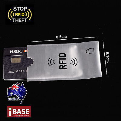 RFID Blocking Sleeve Secure Credit Card ID Protector Anti Scan Safet 4xL + 10xS 4
