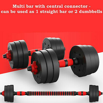 Zeno Fitness 30Kg Dumbells Pair Of Weights Barbell/Dumbbell Body Building Set 3
