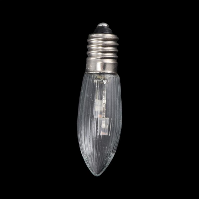 10Stk E10 LED 0,2W 10-55V Birnen Lampe Topkerzen Spitzkerze Riffelkerze matt jc 5