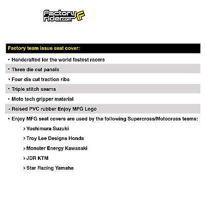 Enjoy MFG Ribbed Seat Cover for Honda CRF 110 Black Ribs All Black