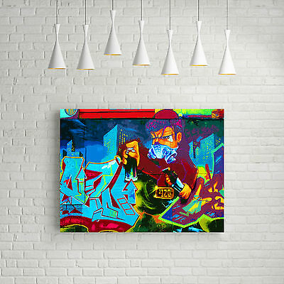 STUNNING POP ART GRAFFITI URBAN STREET ART CANVAS #711 QUALITY FRAMED PICTURE