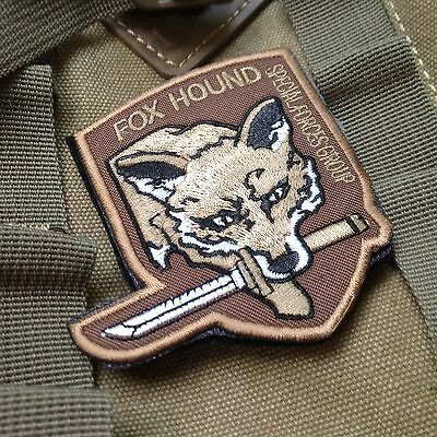 MGS Metal Gear Solid Hound Special Forces Group Morale Hook Loop Patch Brown
