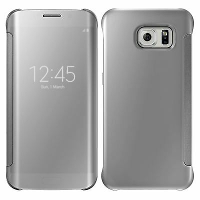 New Samsung Galaxy S7 S8 S9 S9+ Mirror Flip Case Cover Wallet With Built In Chip