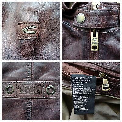 CAMEL ACTIVE 5313 Leather Jacket Lederjacke Herren Bordeaux