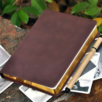 Top Quality Blank Diaries Journals Notebook Note Book Vintage PU Leather Cover 11