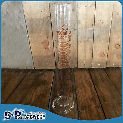250ml Measuring Test Tube Cylinder & Alcoholmeter, Grainfather, Robobrew 3