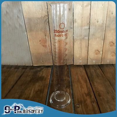 250ml Measuring Test Tube Cylinder with Alcoholmeter and Hydrometer