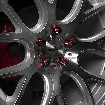 Neo Chrome 20 PCS M12X1.25 Lug Nuts Short Tuner Aluminum Wheels Rims Cap WN01 7