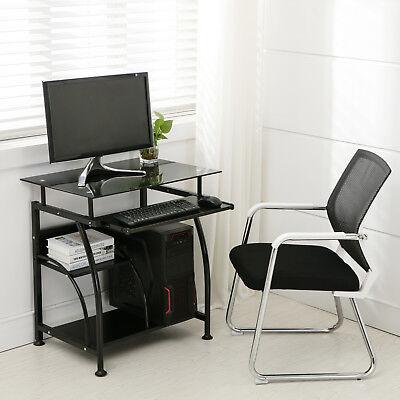 Home Office PC Corner Computer Desk Laptop Table Workstation Furniture Black 3