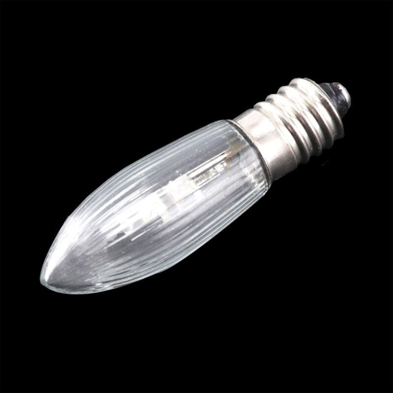 10Stk E10 LED 0,2W 10-55V Birnen Lampe Topkerzen Spitzkerze Riffelkerze matt jc 9
