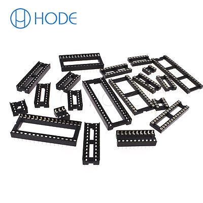 IC Sockets DIP-6P 40P Pin Round Adaptor Solder Gold Plated Narrow/WIDE UK 3