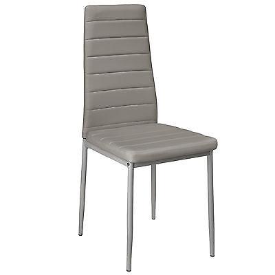 4x Chaise de salle à manger ensemble salon design chaises cuisine neuf gris 3