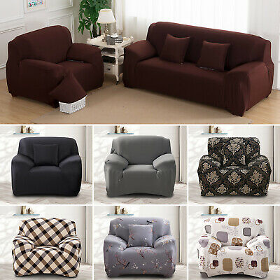 1/2/3 Seater Sofa Covers Slipcover Elastic Stretch Settee Protector Couch Floral 2