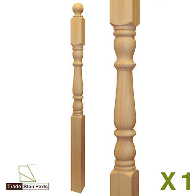STAIRCASE KIT - LOWER BANNISTER - 2.4 metres - Post to Ceiling Traditional Pine 5