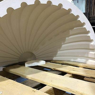 2 Fluted NICHE CAP SHELLS (Handmade) Absolute Spectacular! Achitectural Plaster 4