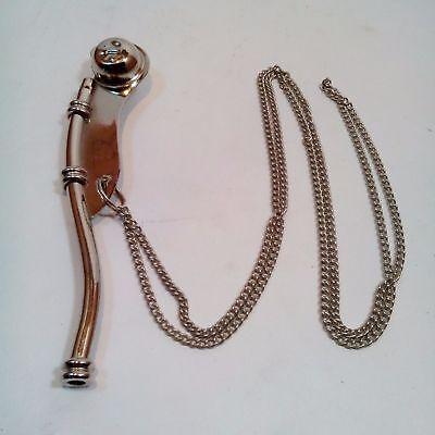 "Lot Of 10 Pcs Nautical Antique Brass Nickel Boatswain's Pipe Bosun Whistle 5"" 6"