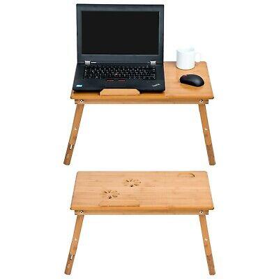 Table de lit pliable pour PC portable notebook tablet bambou + USB ventilateur 7