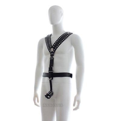 body bondage kit intimo costrittivo sadomaso ring anello pene fallico pettorina 4