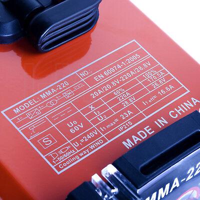 ARC 220Amp Stick Welder DC Inverter MMA Welding Machine IGBT Portable 10A Plug 9