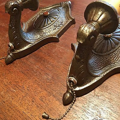 Matched Pair Of Sconces Beautiful Pull chain Sconces Great!!! 3