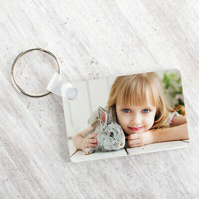 Personalised Photo Keyring Any Picture Custom Keychain Double-Single Side Print 4
