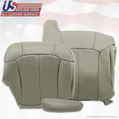1999 2000 2001 2002 Chevy Tahoe Suburban Upholstery leather seat cover Gray 4