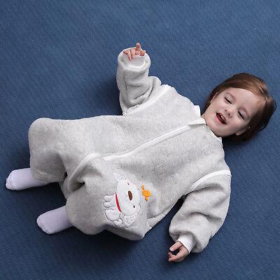 Baby Toddler Kids 100% Cotton Wearable Organic Blanket Sleeping Bag Winter Wrap 5
