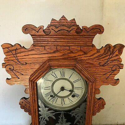 Superb Antique late Victorian American   Mantle  clock, working 2