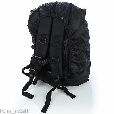 LARGE DSLR SLR Camera Backpack Rucksack Bag Case+RainCover For Nikon Sony Canon 3